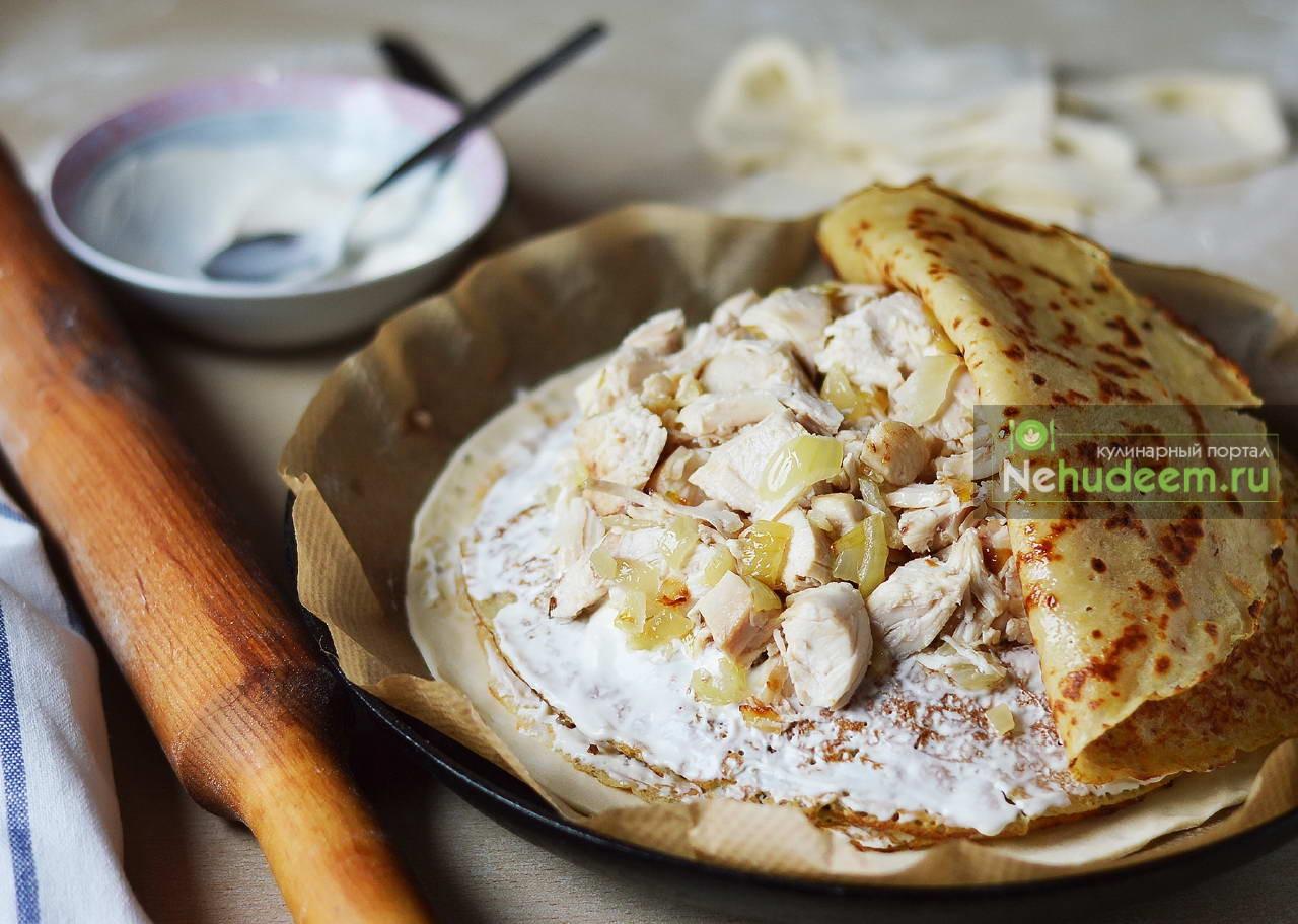 Курник из слоеного теста - пошаговый рецепт с фото