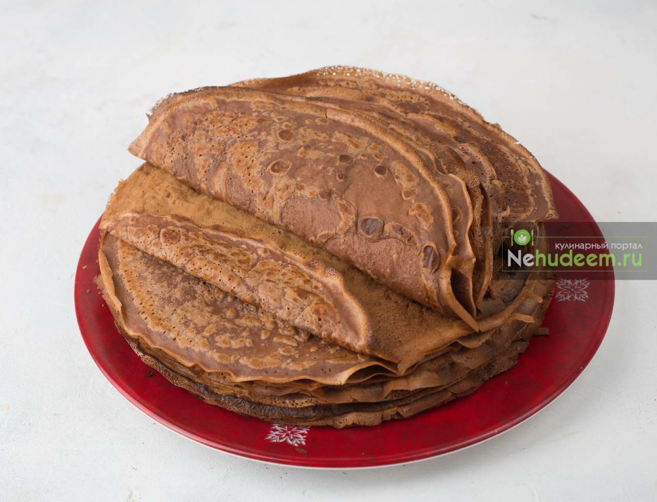 Шоколадный блинный торт рецепты пошагово