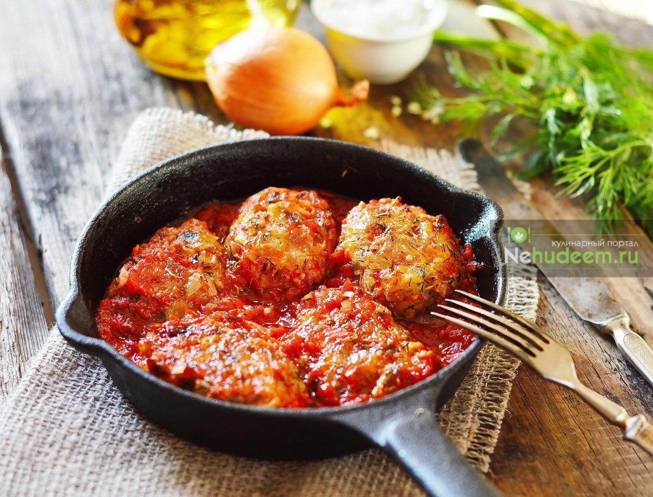 Рецепт рыбных фрикаделек в томатном соусе