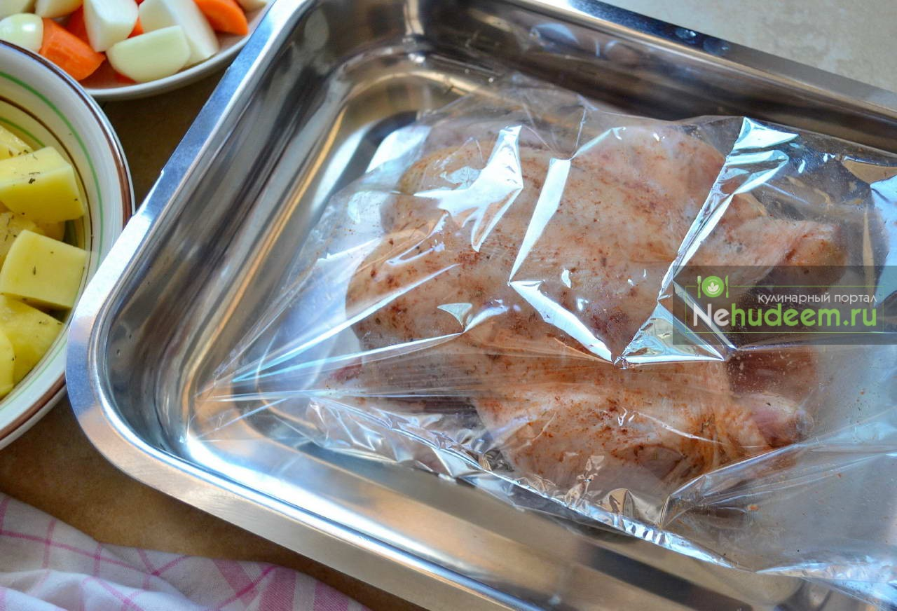 Гречка в духовке в пакете для запекания с фото