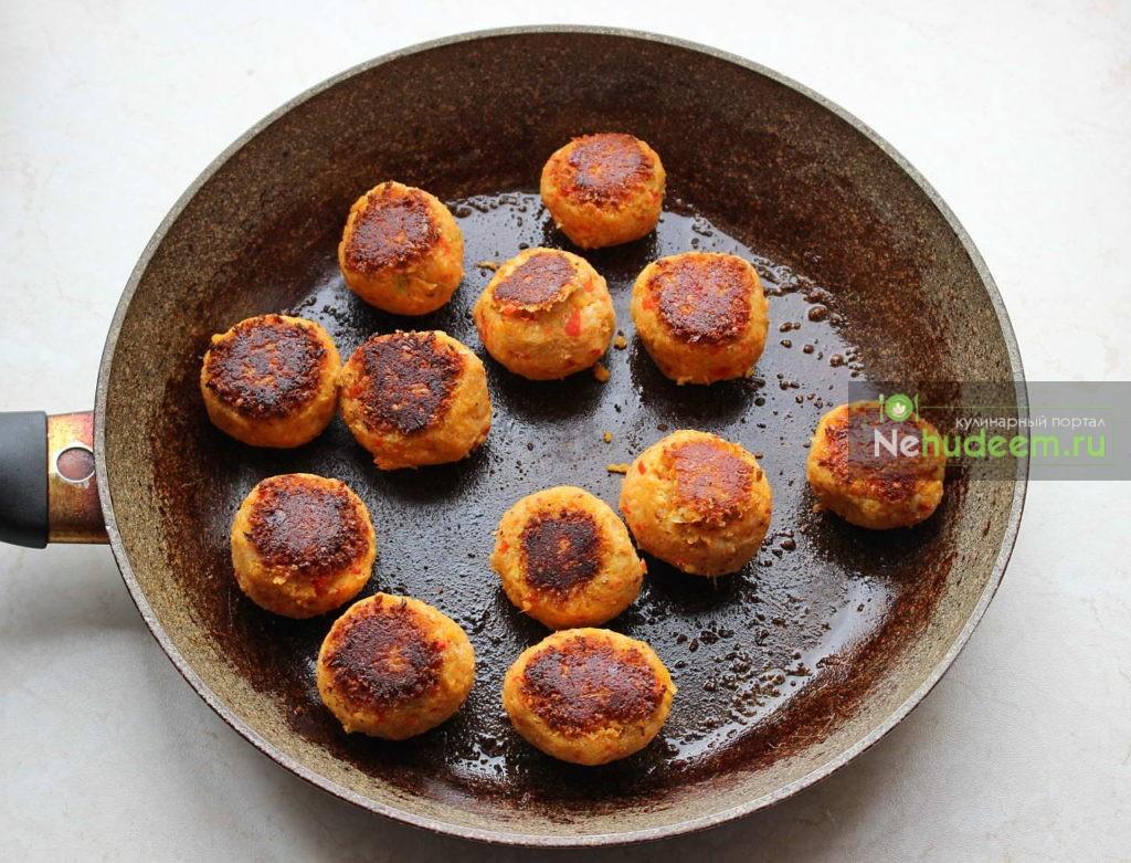 Фрикадельки рецепт на сковороде с фото пошагово