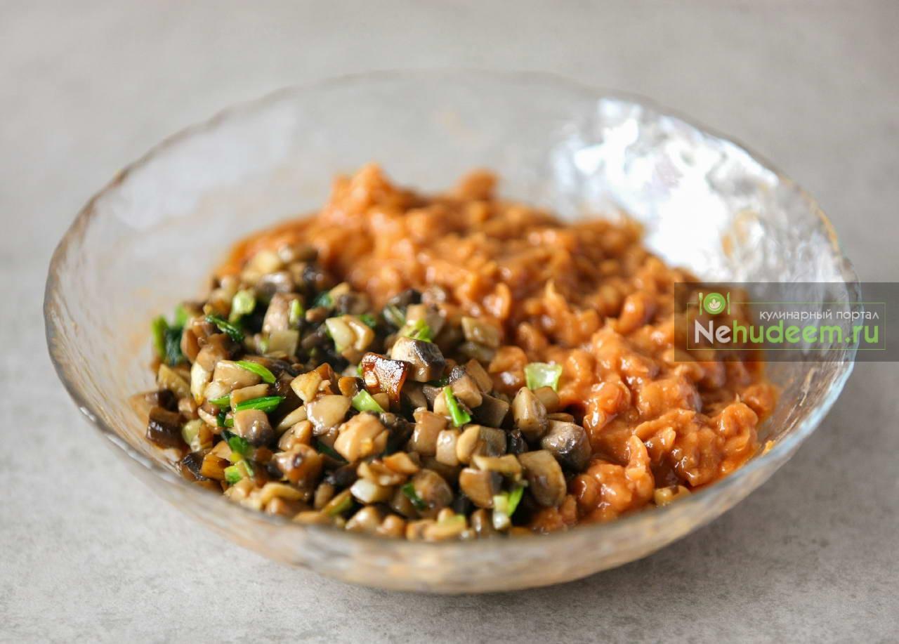 Салат с фасолью пошагово с шампиньонами