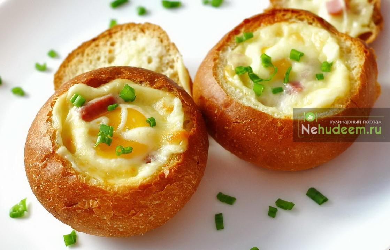 Булочка с яйцом и сыром рецепт