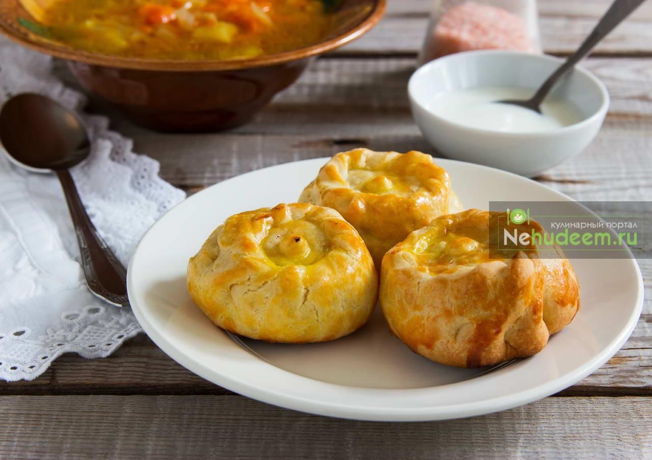 Курник из курицы с картофелем пошаговый рецепт треугольники