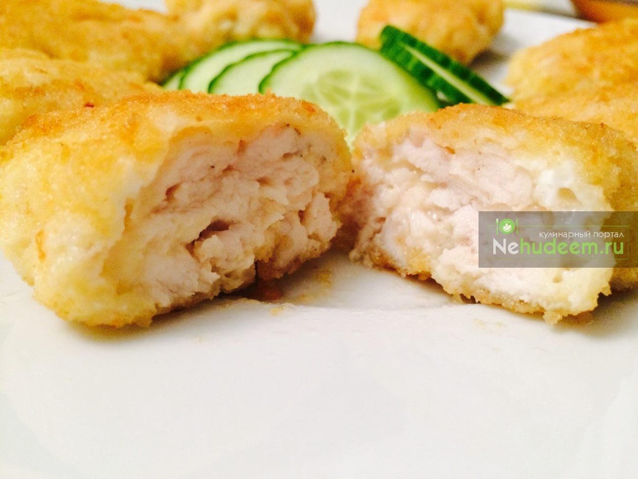 Рецепт наггетсов из курицы с сыром в домашних условиях пошагово