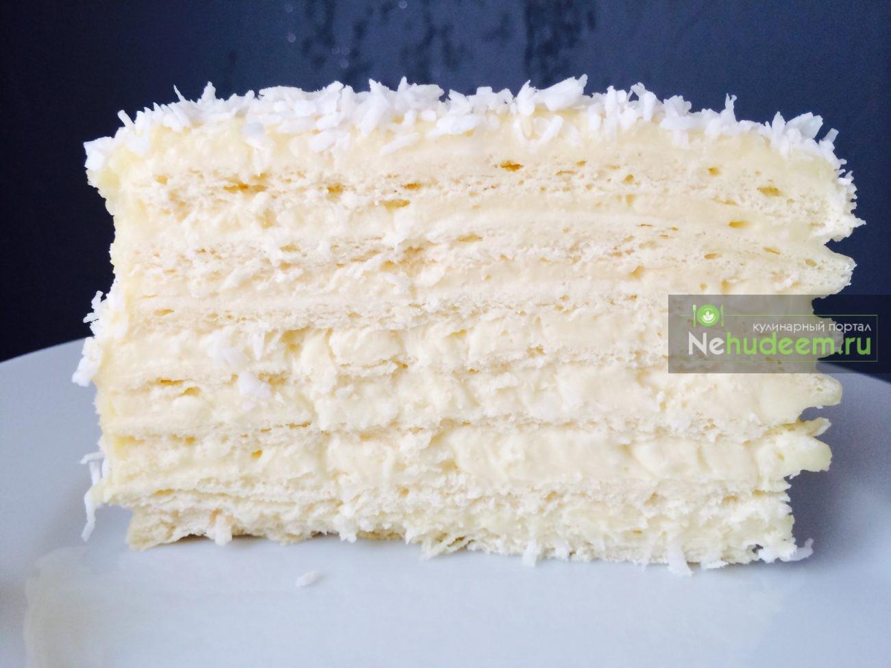 Кокосовый крем для торта пошагово с