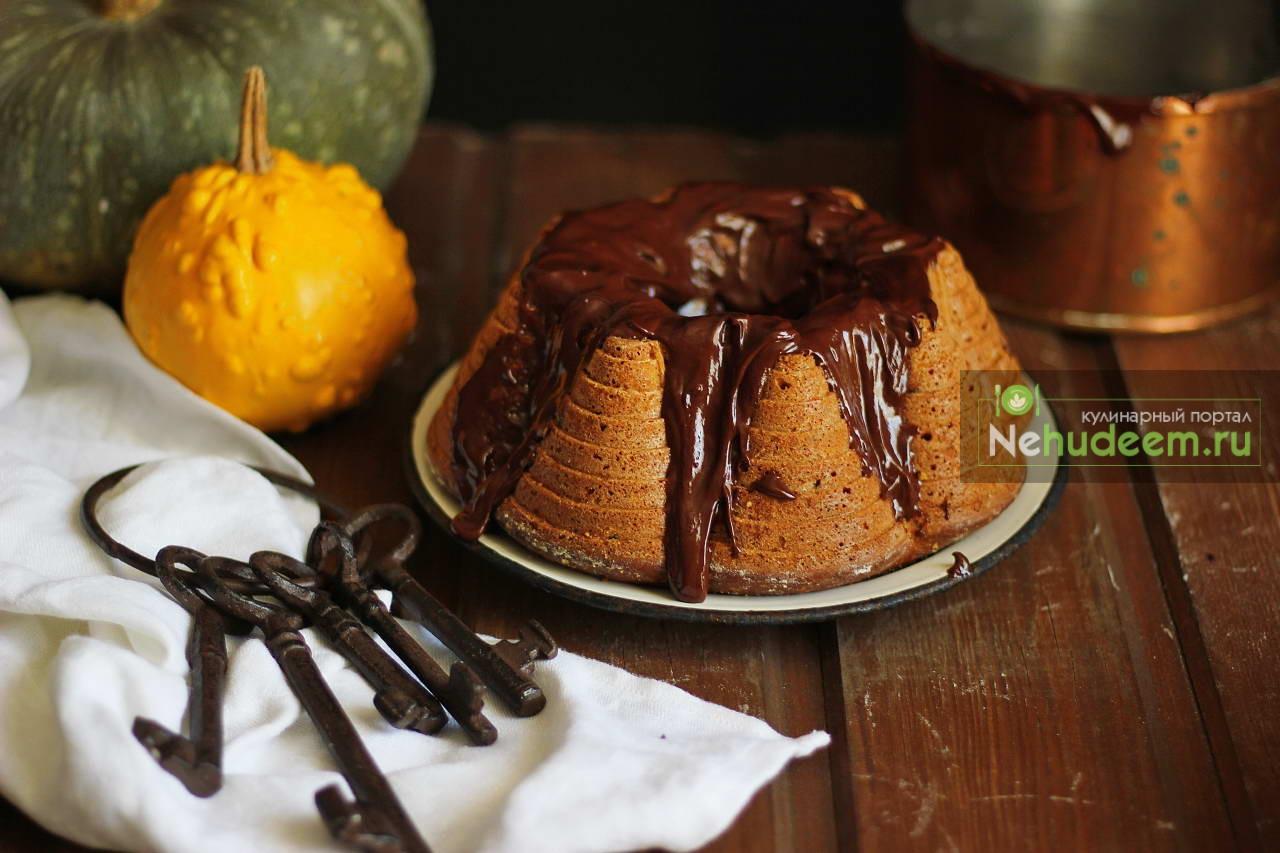 Пряный тыквенный кекс с шоколадом