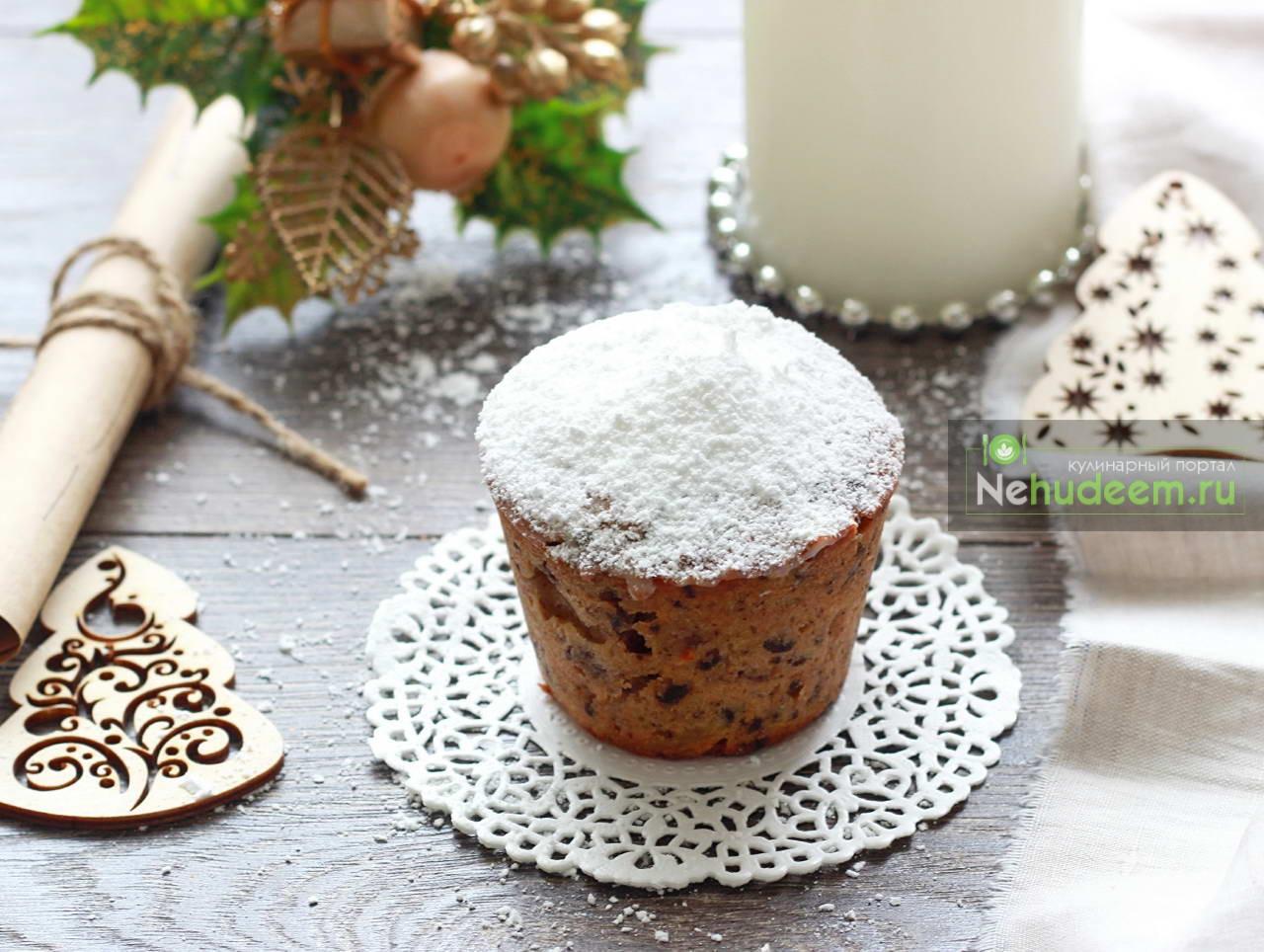Рождественский кекс с апельсином и шоколадом