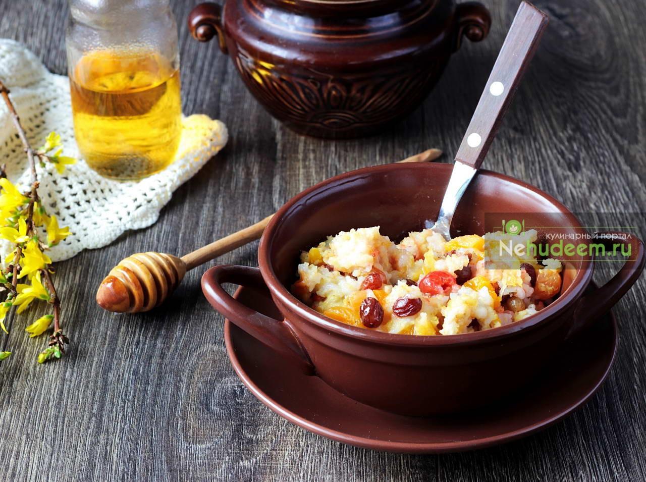 Пшенно-рисовая каша в духовке