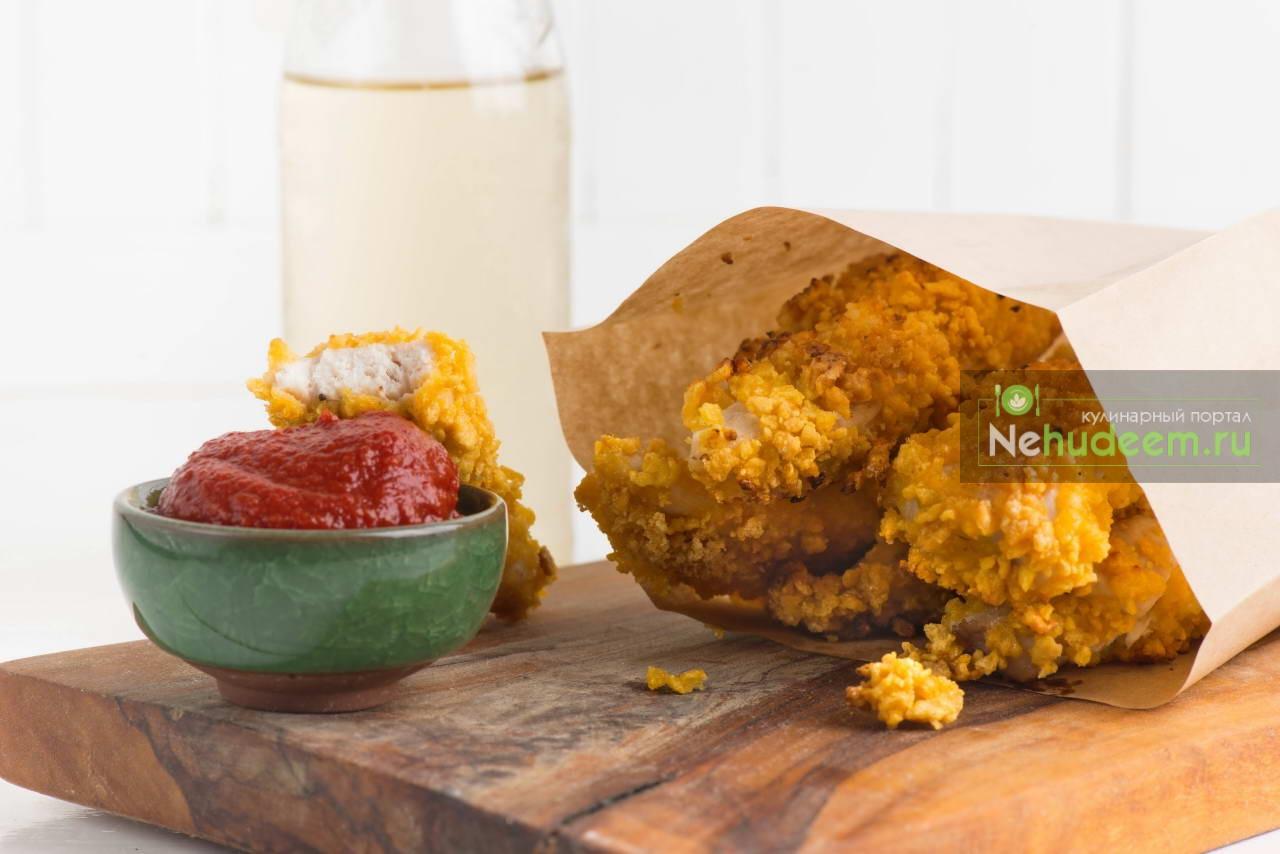 Стрипсы из курицы в кукурузной панировке