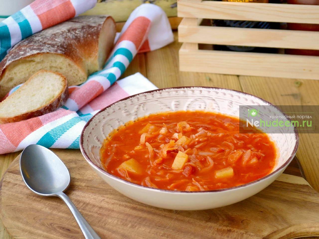 Ирландский капустный суп с беконом