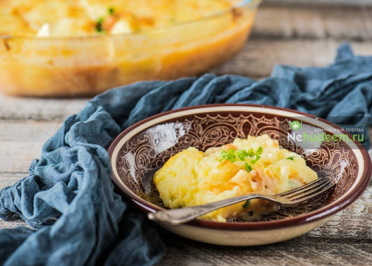 Картофельная запеканка с фасолью и сыром