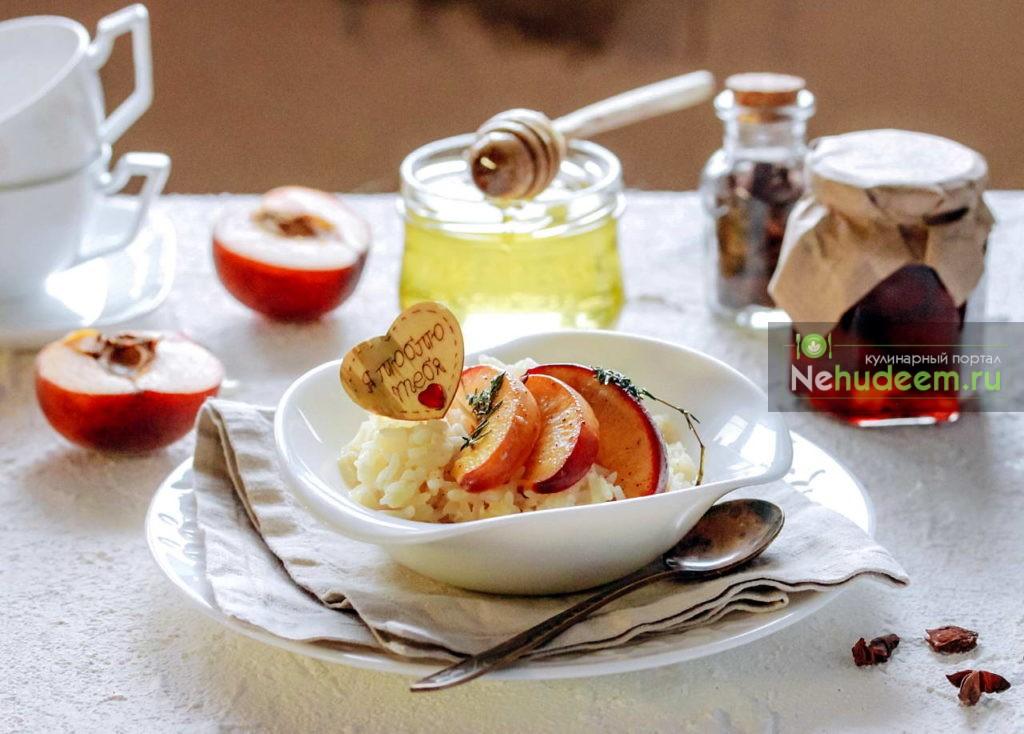 Каша рисовая на воде с персиками в мультиварке - рецепт пошаговый с фото
