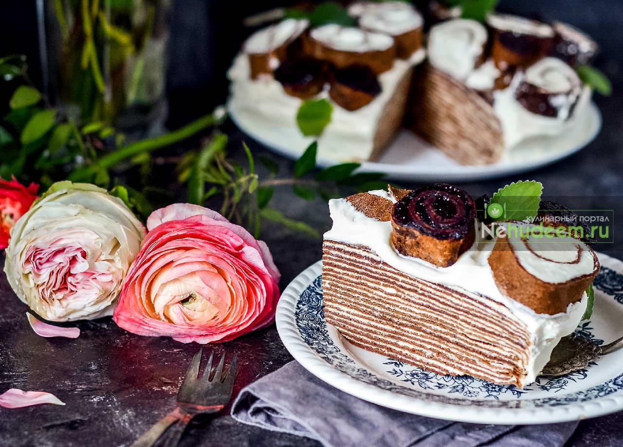 Блинный торт Букет роз