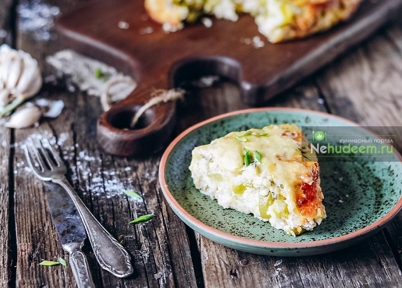 Пирог с курицей и кабачком