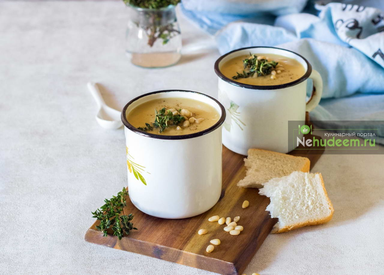 Суп-пюре из репы с кокосовым молоком