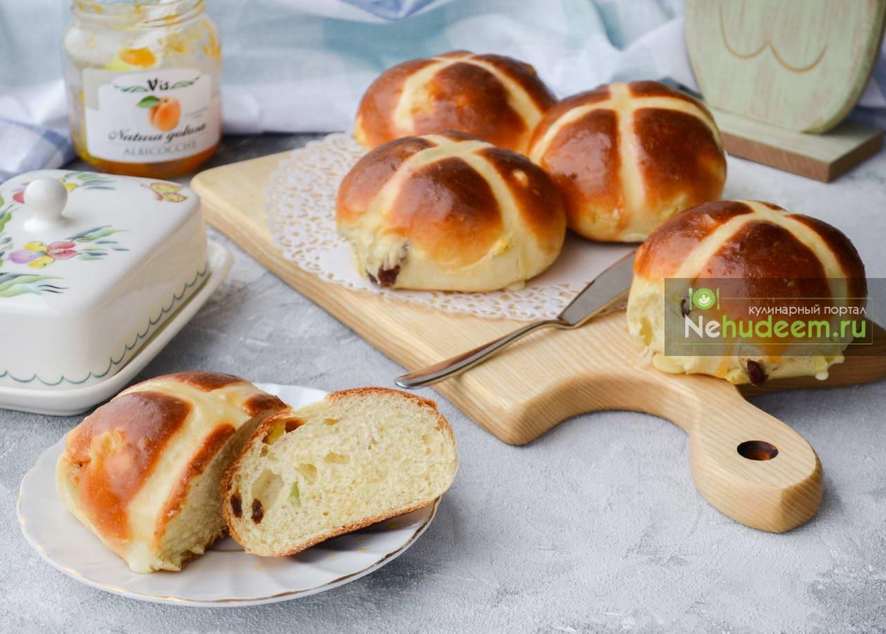 Английские крестовые булочки Hot cross buns