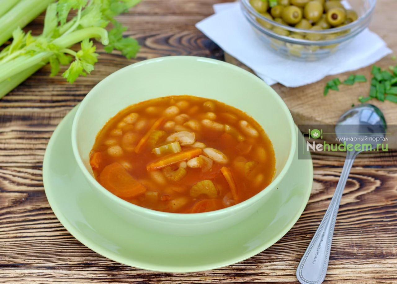 Постный греческий суп Фасолада