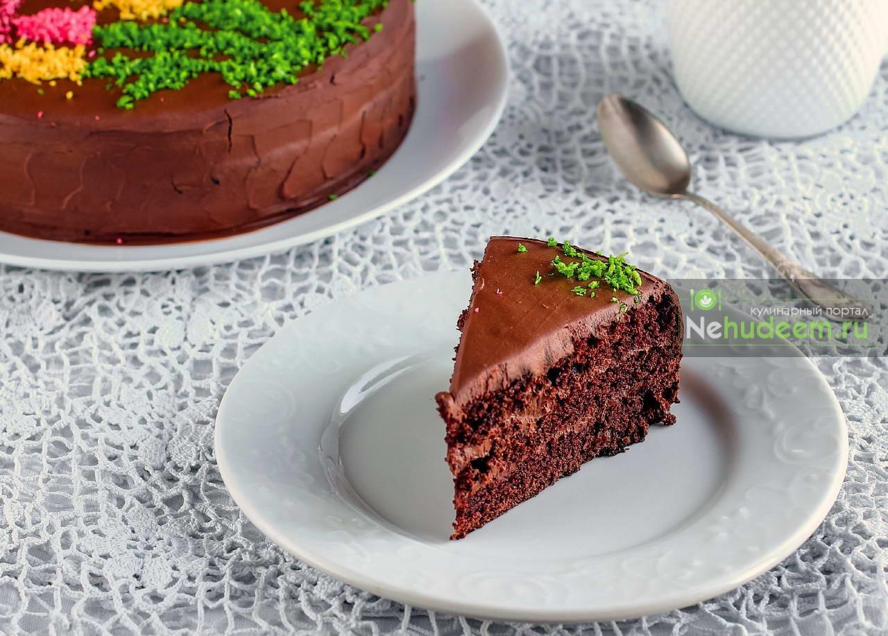 Шоколадный торт на кокосовом молоке