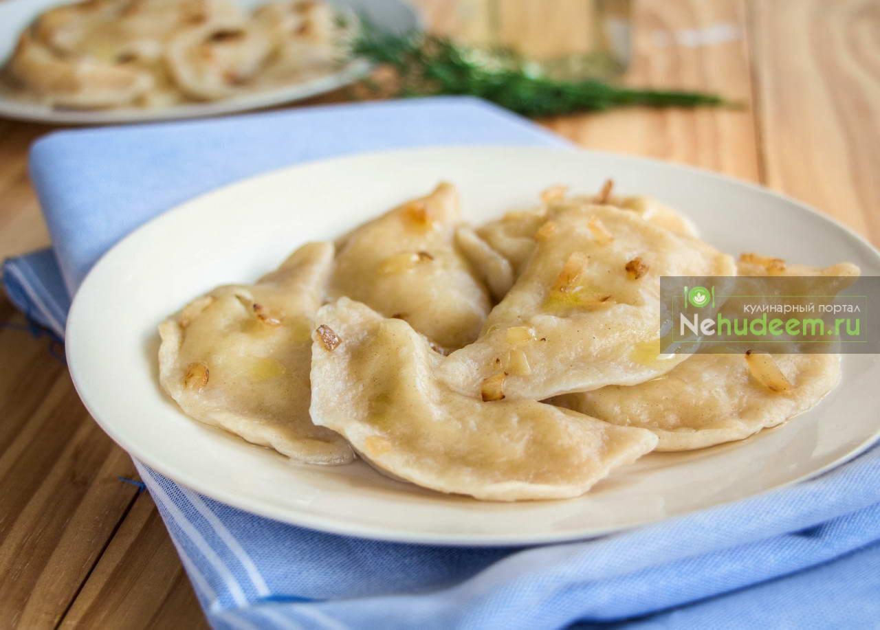 Постные вареники с картошкой и луком