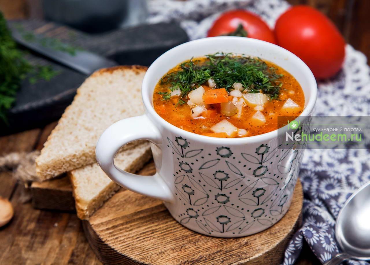 Суп с сельдереем и перловкой
