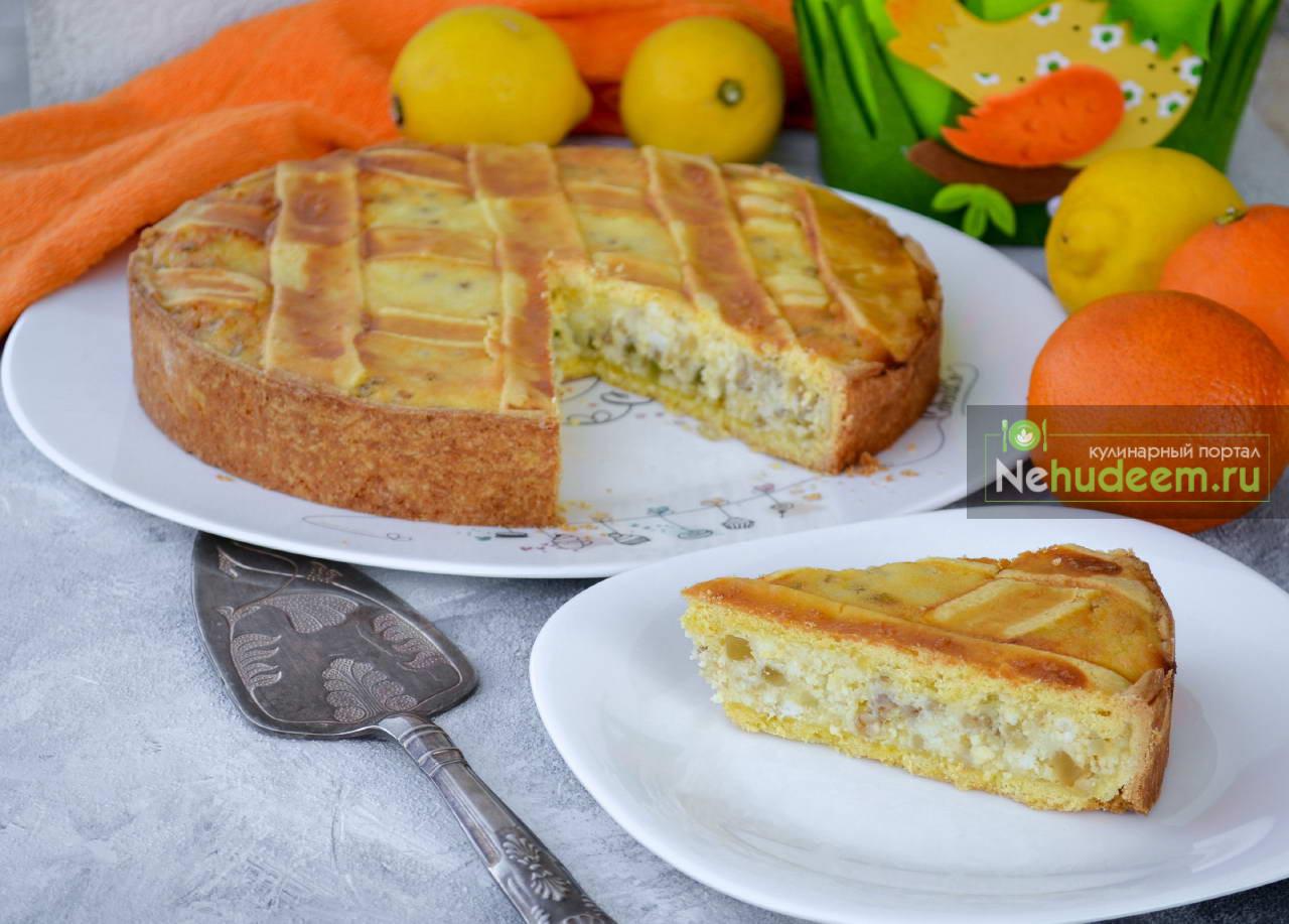 Пасхальный неаполитанский пирог Pastiera Napoletana