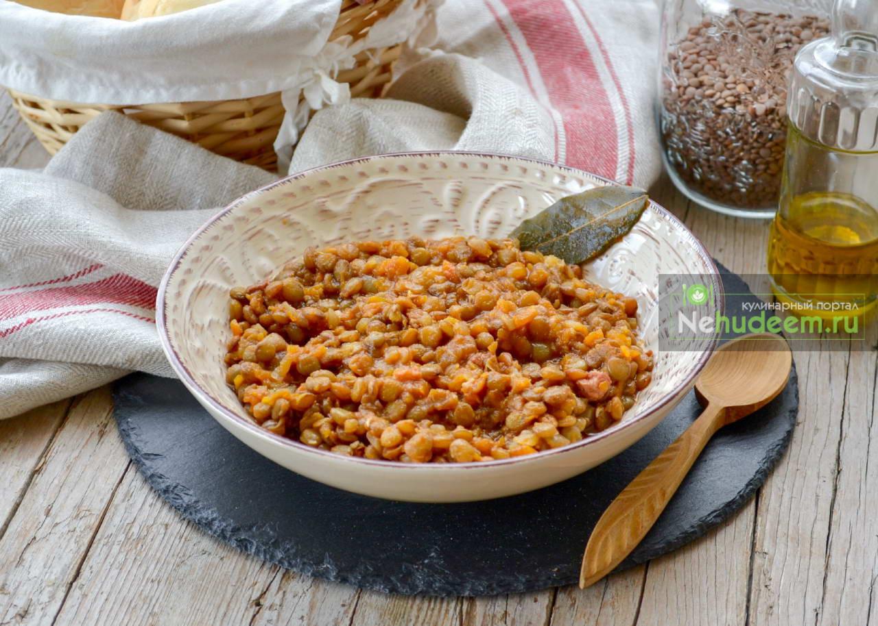 Тушёная чечевица по-итальянски