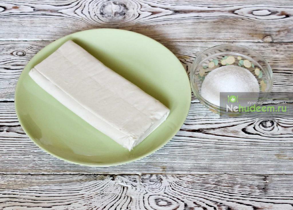 Сахарные завитушки из слоеного теста - рецепт пошаговый с фото