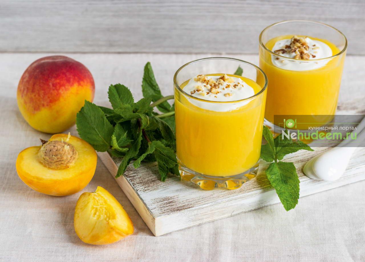 Персиковый кисель с творогом