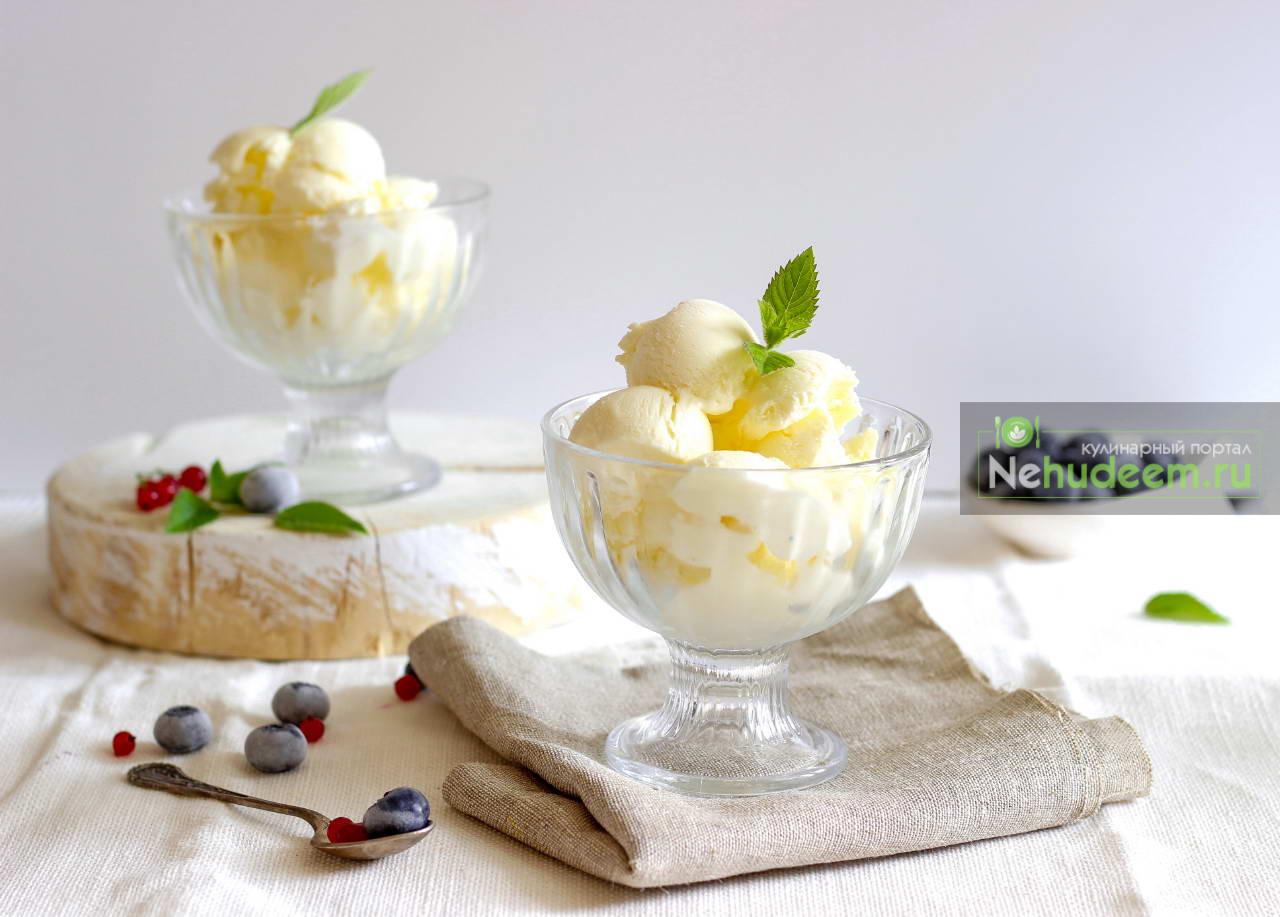 Ванильное мороженое из трёх ингредиентов