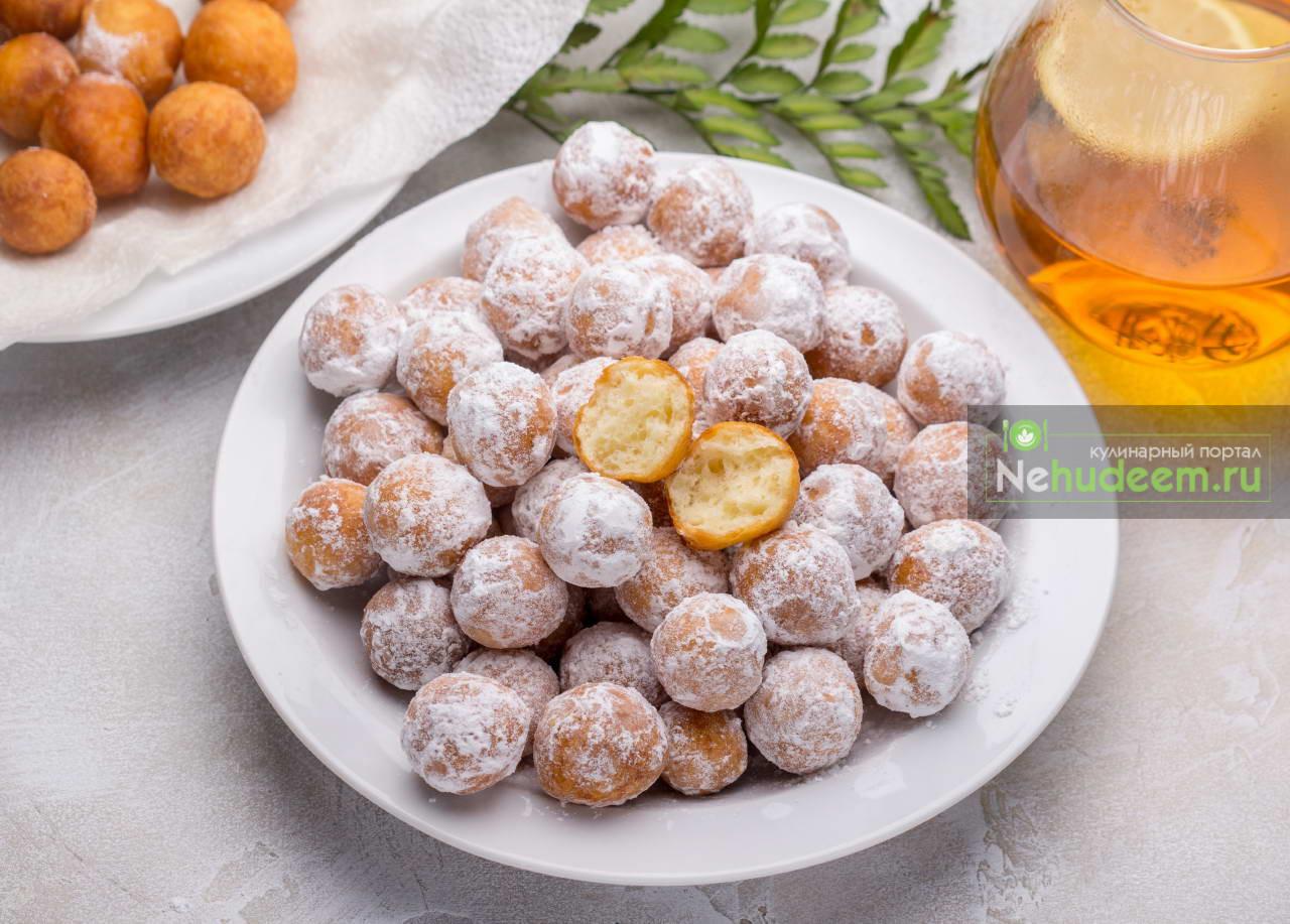 Творожные пончики Колобки