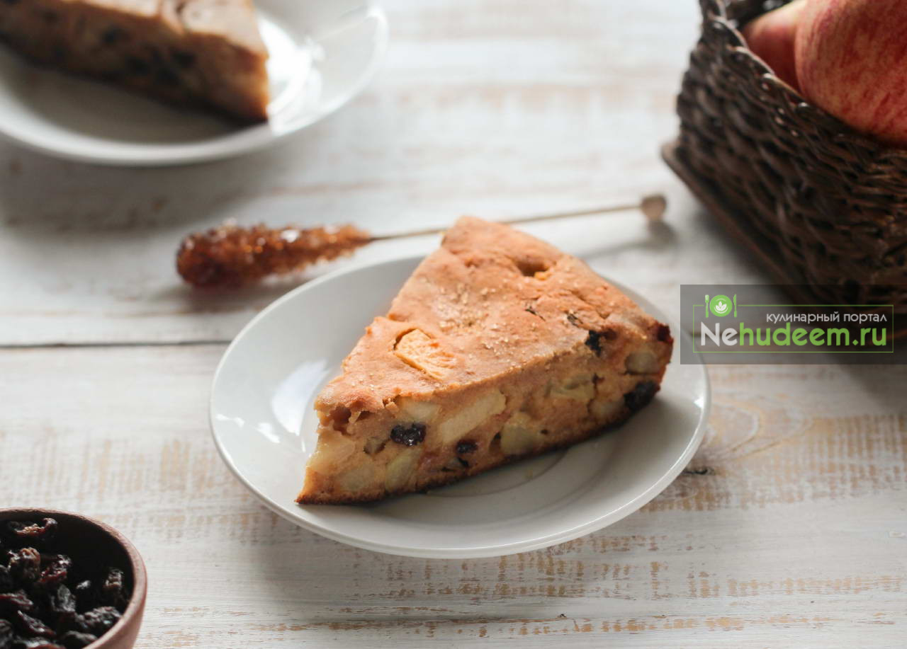 Яблочный пирог Бустренго с кукурузной мукой
