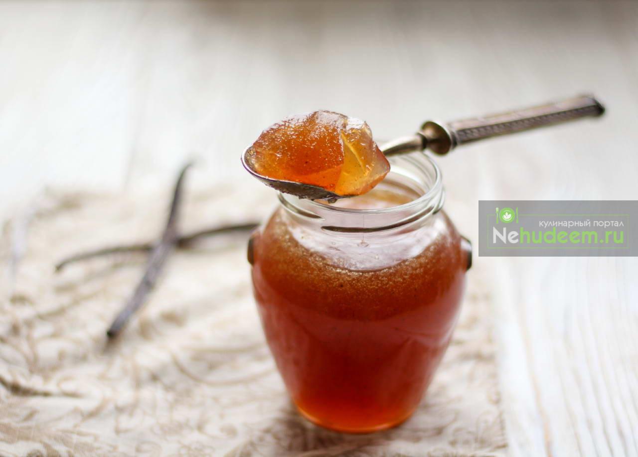 Яблочное желе с ванилью