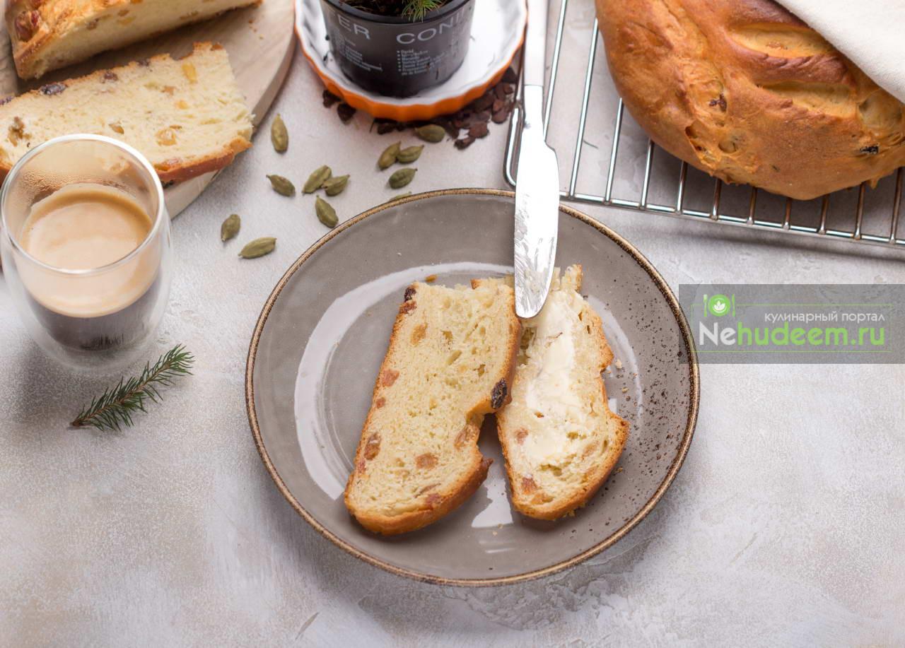 Норвежский рождественский хлеб с изюмом