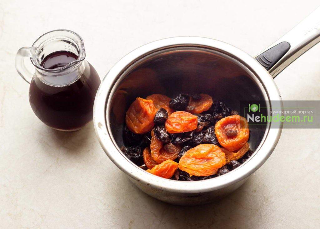 Летний безалкогольный напиток из кураги и изюма - рецепт пошаговый с фото