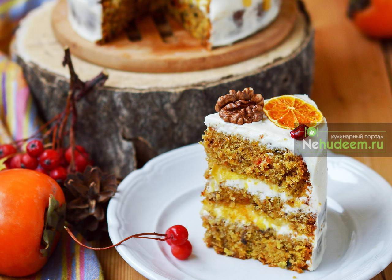 Морковный торт с апельсиновой карамелью