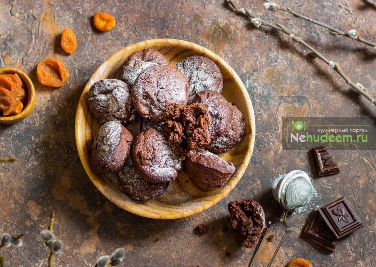 Шоколадные кексы на оливковом масле