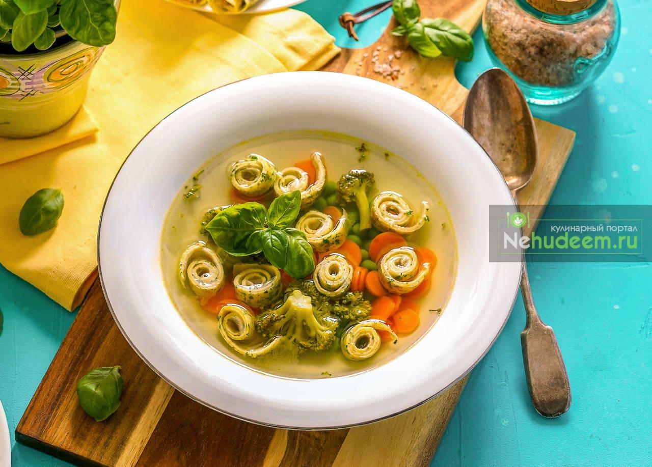 Весенний суп с блинчиками