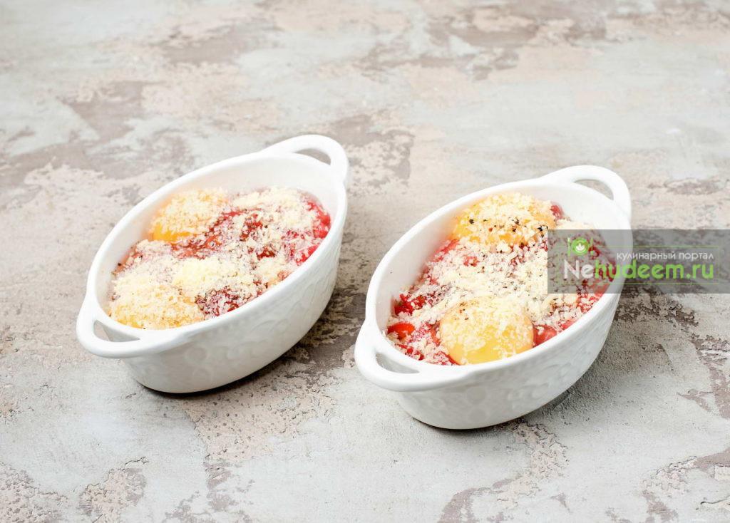 Порционный омлет с укропом в духовке - рецепт пошаговый с фото