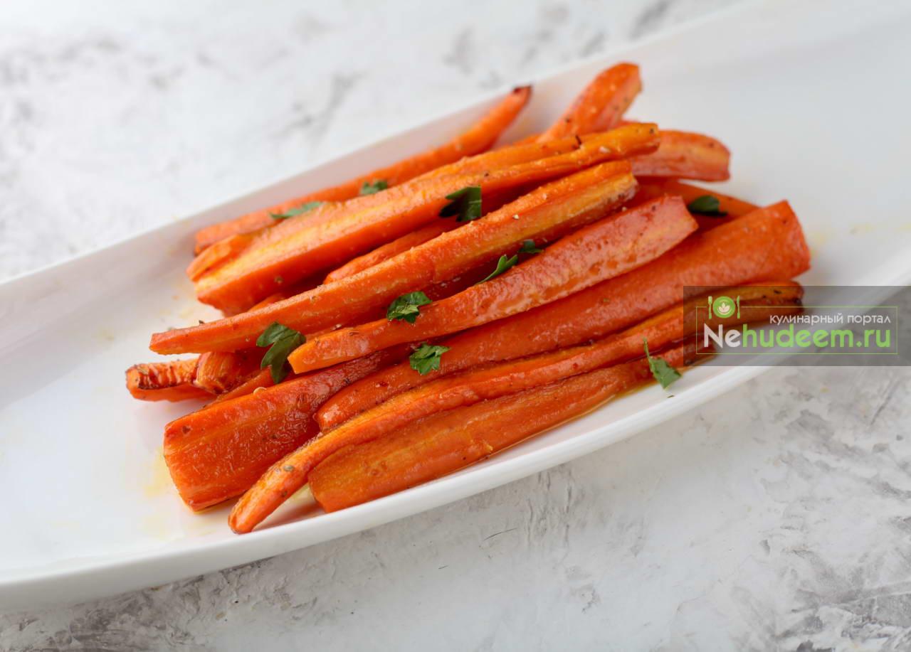 Запечённая морковь с мёдом