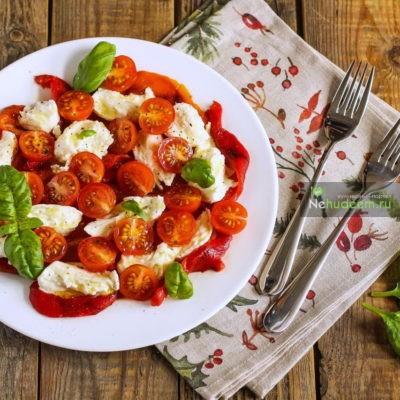 Теплый салат с курицей и болгарским перцем рецепт 40