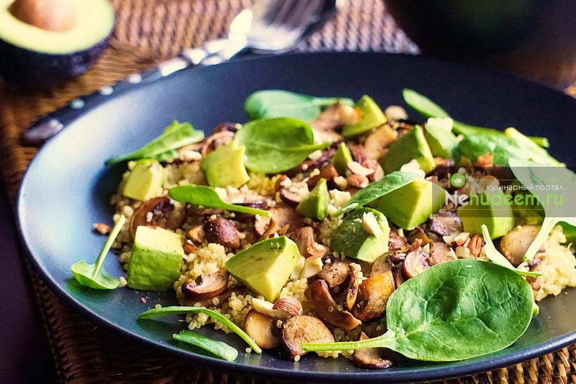 теплый салат с киноа пошаговый рецепт с фото пошаговые рецепты с фото
