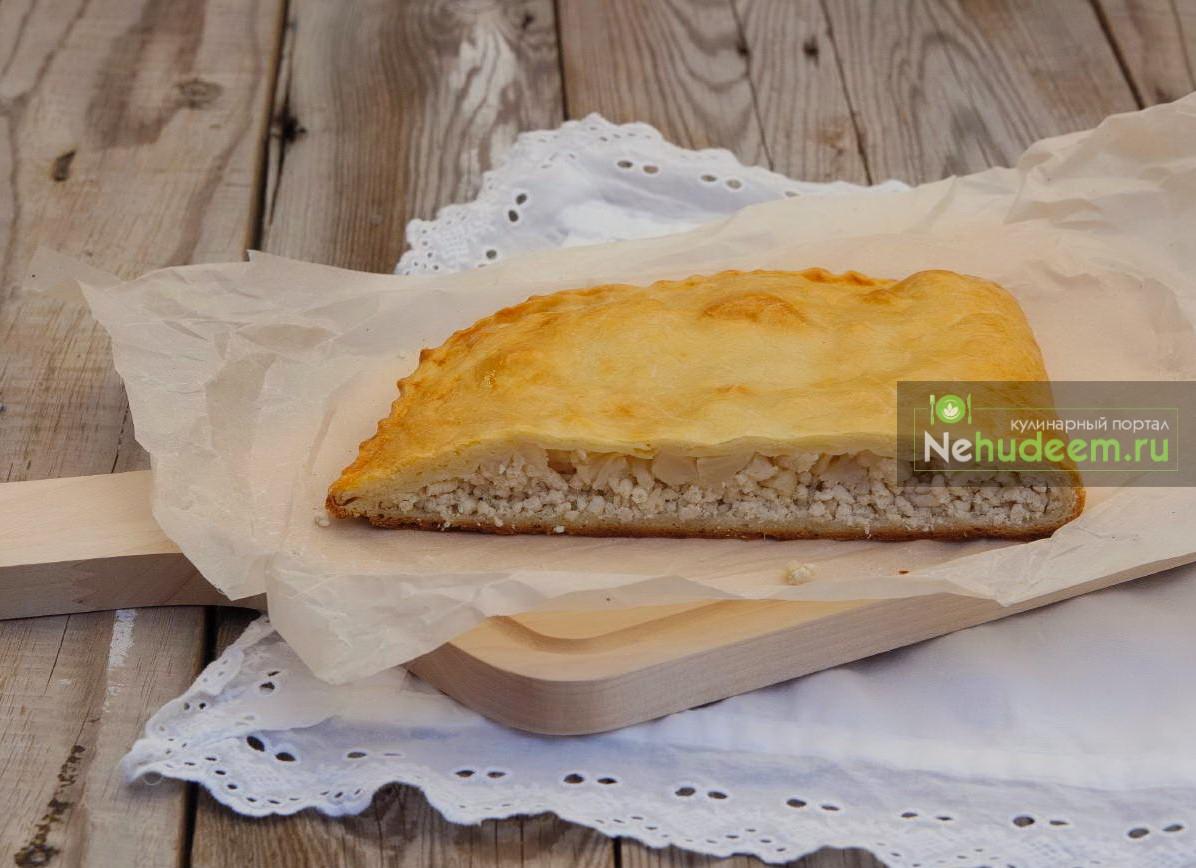 Пирог с курицей и цветной капустой