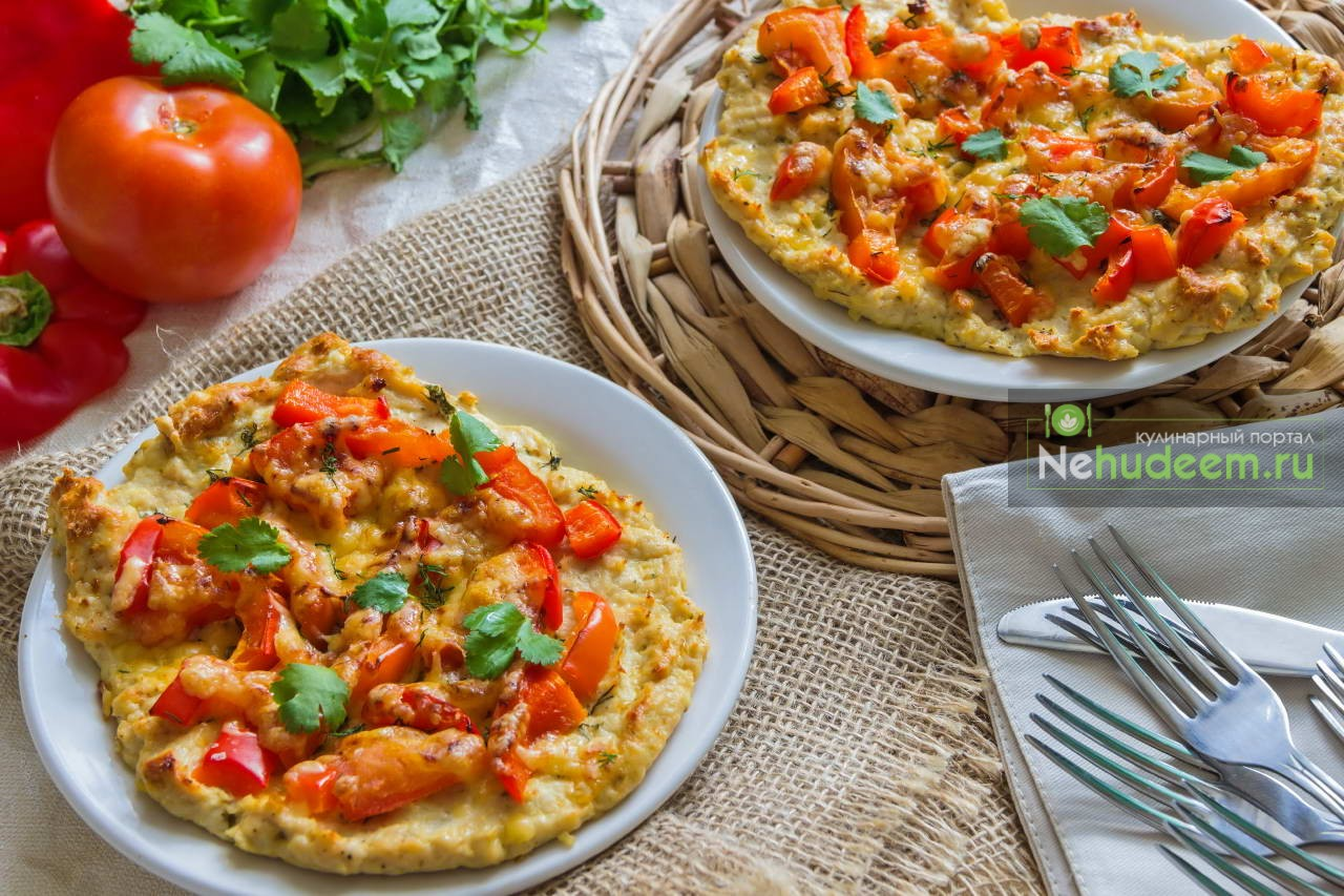 Пицца на основе из фарша индейки