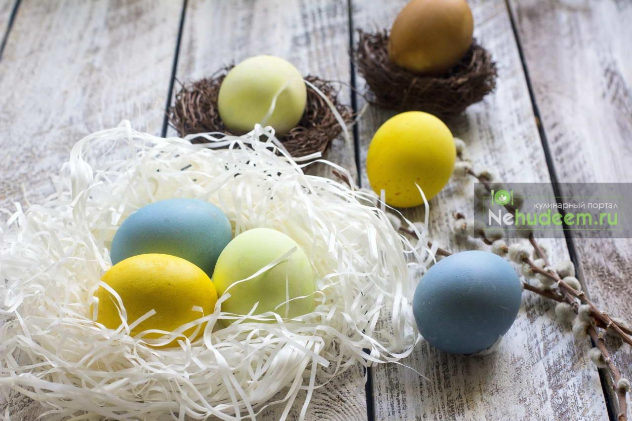 Покраска яиц натуральными красителями