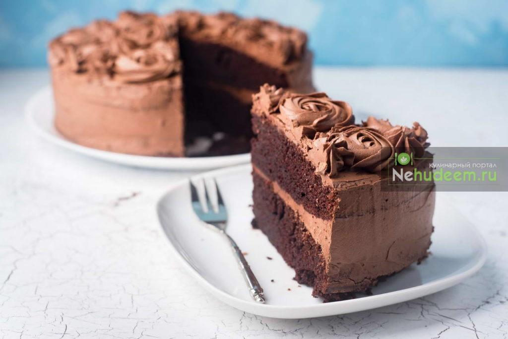 шоколадный торт с кофе фото
