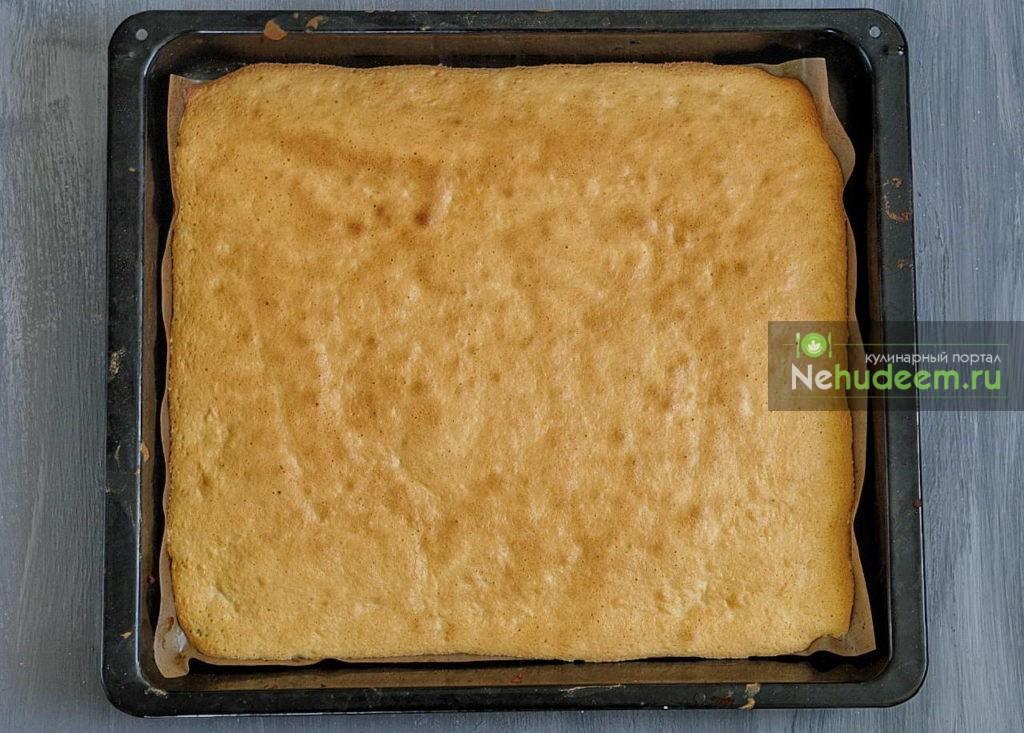 Бисквитный рулет с яблоками за 15 минут - рецепт пошаговый с фото