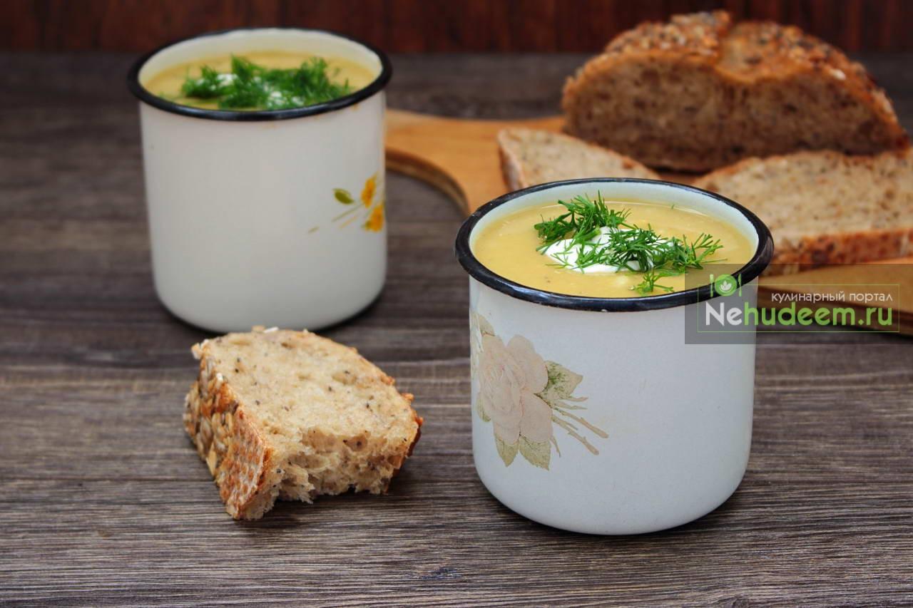 Густой тыквенный суп с рисом и чечевицей
