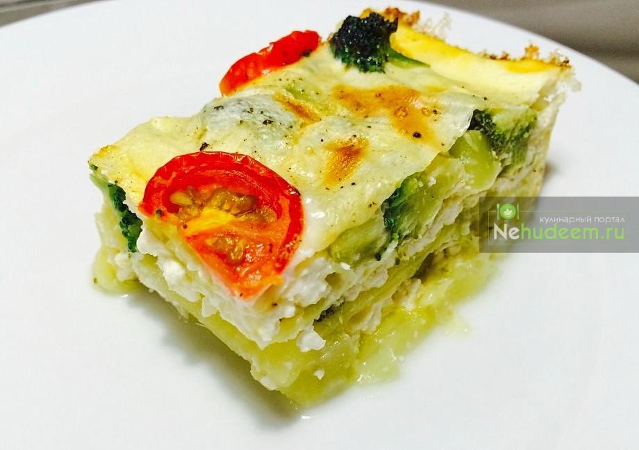 Овощная запеканка с сыром фета