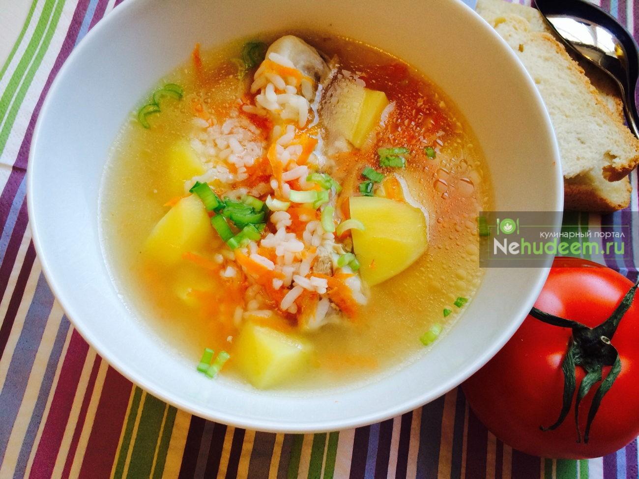 Куриный суп с рисом в мультиварке